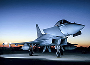 An XI Squadron Typhoon at sunrise in Akrotiri, Cyprus © BAE Systems